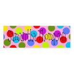 Multi-Coloured Dot Kids Contact Info Mini Business Card