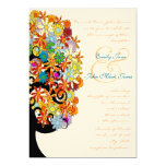 Multi Coloured Flower  Love Tree Wedding Personalized Announcement
