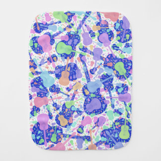 Multi Coloured Guitar Burp Cloth