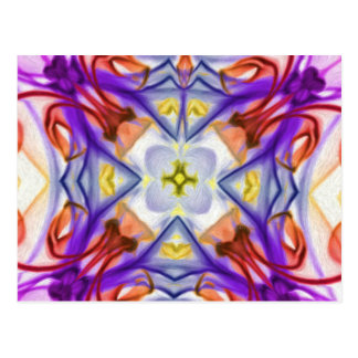 Multi-Coloured Kaleidescope Butterfly Abstract Postcard