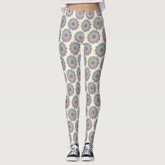 Multi-coloured Mandala Design version 1 Leggings