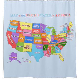 Multi-Coloured Map Of the United States