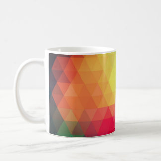 Multi coloured pattern mug