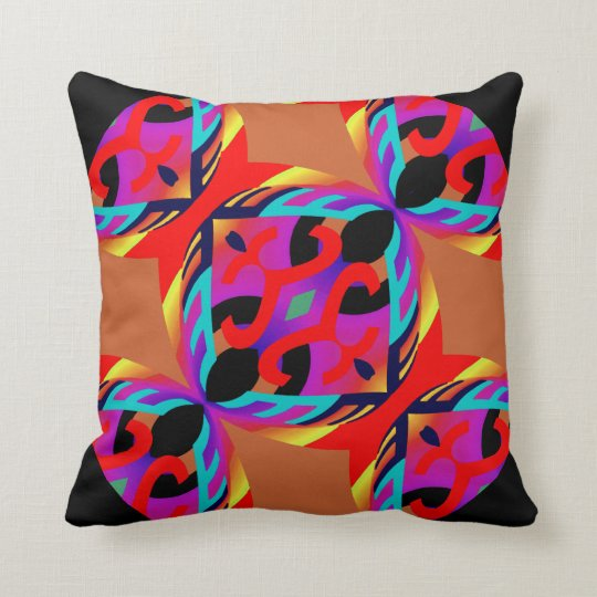Multi-Coloured Pillow on Black  - Home Decor -