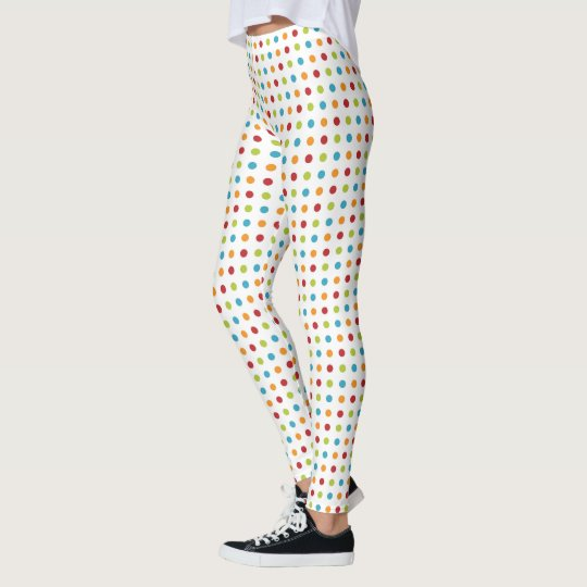 Multi-coloured Polka Dot Leggings