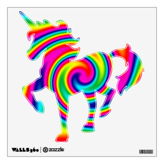 Multi-Coloured Rainbow Twirl Wall Sticker