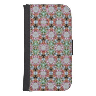 Multi coloured shiny pattern galaxy s4 wallet cases