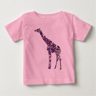 Multi-coloured spotted Giraffe Baby T-Shirt