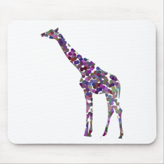 Multi-coloured spotted Giraffe Mouse Pad