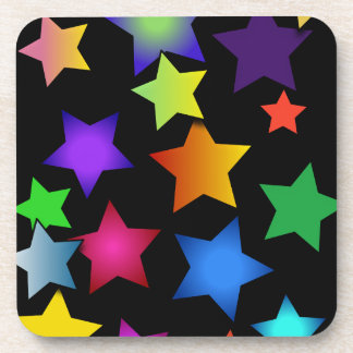 Multi-Coloured Stars Coaster