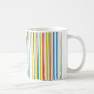 Multi Coloured Stripes Coffee Mug