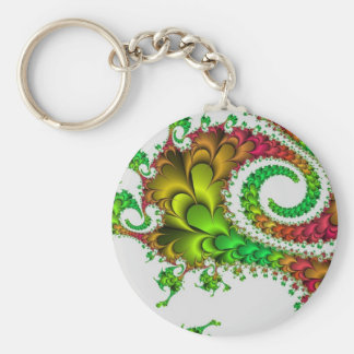 Multi-coloured swirl abstract keychain