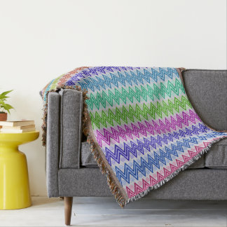 Multi coloured Weathered Aztec Influenced Throw Blanket