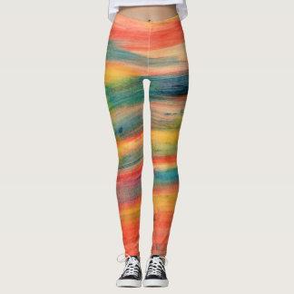 Multi Colourful STRIPES Leggings