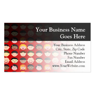 Multi-Cultural Children Pack Of Standard Business Cards