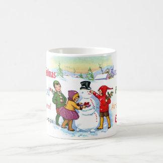 Multi Cultural Vintage Merry Christmas Mug