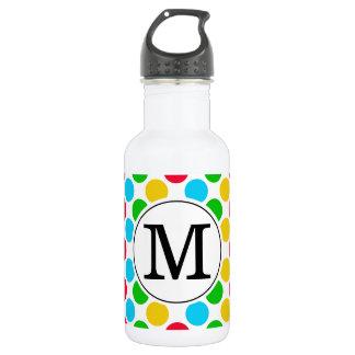 Multi Dot Custom Monogrammed Golf Beverage 532 Ml Water Bottle