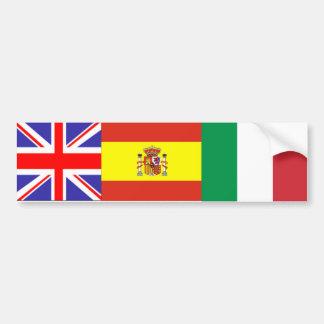 multi flag bumper sticker