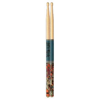 Multi Floral / Orange  Design Drumsticks