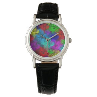 Multi-Flowered Fashion Watch by Julie Everhart