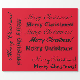 Multi-font Christmas lettering Wrapping Paper
