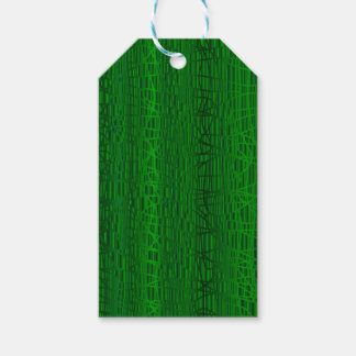 Multi Green Colour Background Pack Of Gift Tags