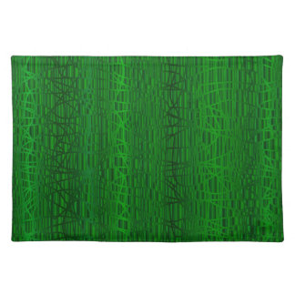 Multi Green Colour Background Placemat