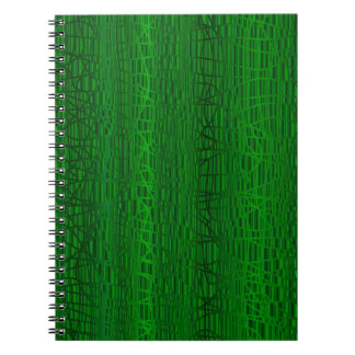 Multi Green Colour Background Spiral Notebook