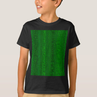 Multi Green Colour Background T-Shirt