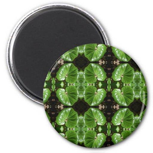 multi green leaf refrigerator magnet