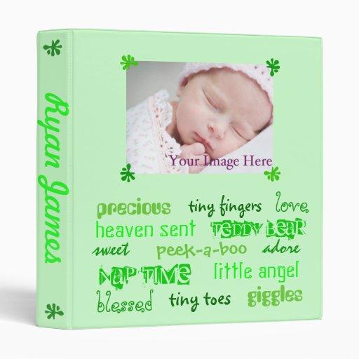 Multi-Green Unisex Baby Book 3 Ring Binders