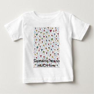 Multi Hearts A7, Grandma has so MUCH love Baby T-Shirt