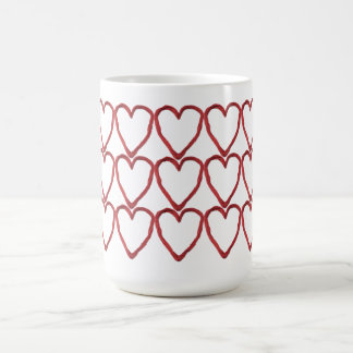 Multi-Heartstrings Classic White Coffee Mug