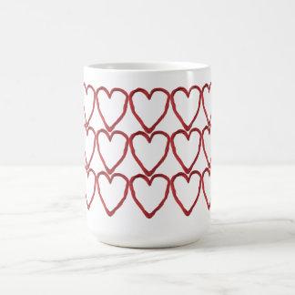 Multi-Heartstrings Classic White Coffee Mug