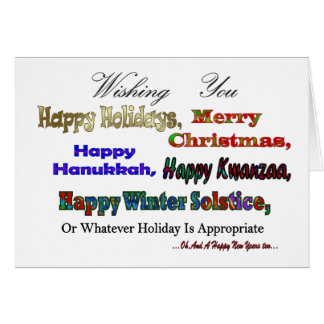 Multi holiday greetings card