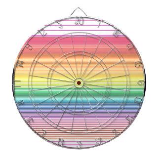 multi horizontal stripe dart board