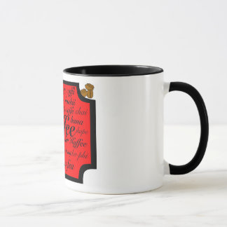 Multi-Language Coffee Mug