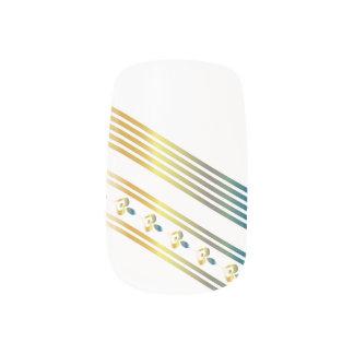 Multi-metal Hearts & Lines 2 - Minx Nails Minx Nail Art