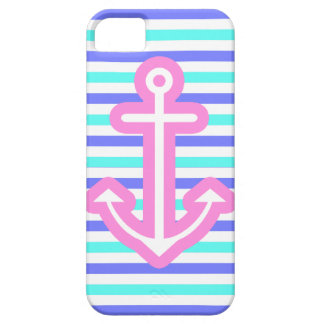 Multi Nautical Pink Anchor Case For The iPhone 5