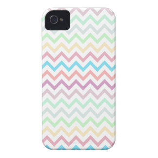 Multi Pastels Chevron Zig Zag Patter Blackberry iPhone 4 Cover