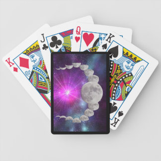 Multi-phased Moonlight Bicycle Playing Cards
