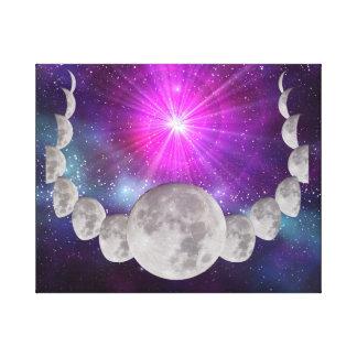 Multi-phased Moonlight Canvas Print