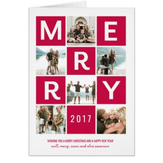 Multi Photo Holiday Greeting Card