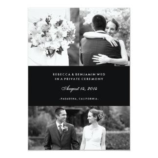 Multi Photo Marriage Announcement in Black