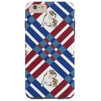 Multi Plaid Bulldog Tough iPhone 6 Plus Case