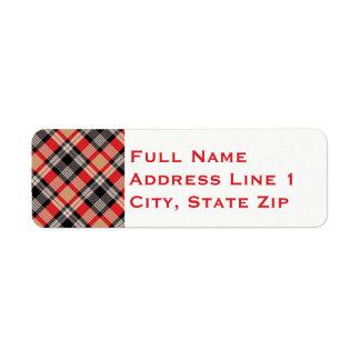 Multi Plaid Holiday Return Address Label