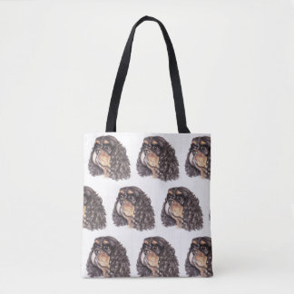 Multi-Print Tote Bag with Max the Cavalier