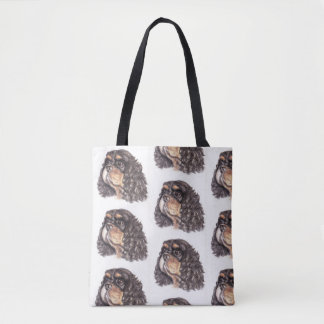 Multi Print Tote Bag with Max the Cavalier