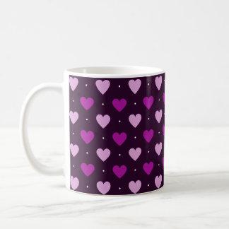 Multi-Purple Hearts Coffee Mug