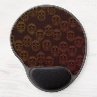 Multi-Skulls Ver.2 Dark Red Gel Mouse Pad